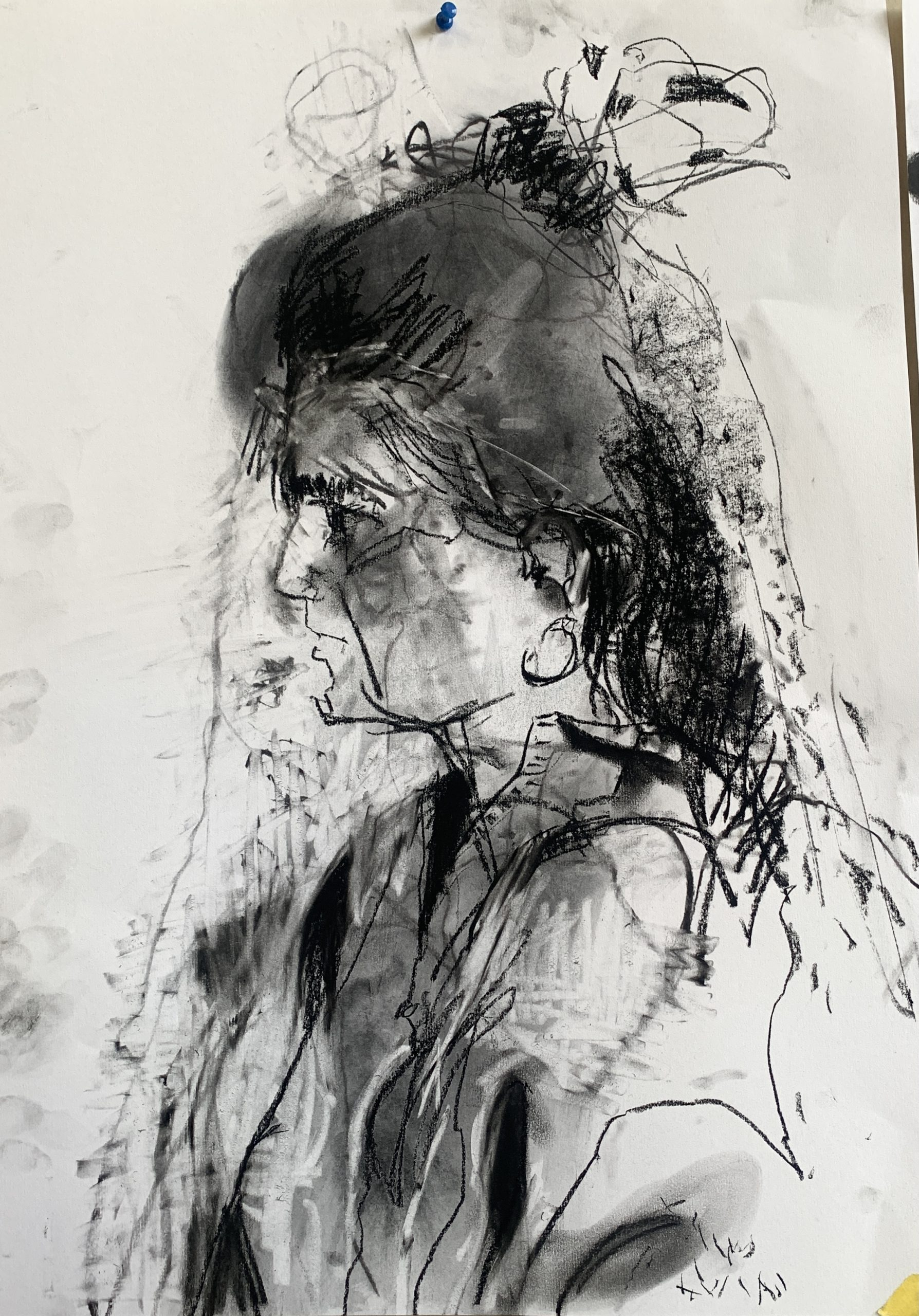 charcoal on A1 paper